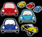"VOLKSWAGEN BEETLE ""BUG"" Vehicle Embroidered Patch VW. Choose Style, Beach Buggy!"
