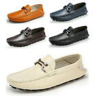 US5-10 REAL Leather Casual SLIP-ON buckle loafers mens cars shoes 2 ways to wear