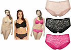 Panache Knickers Sculptresse Pure Lace Short Briefs Nude Black Hot Pink Shorts