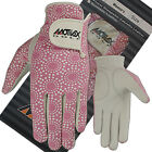 Ladies Golf Gloves Soft Cabretta Leather Lycra Back Pink Golfer Glove Left Hand