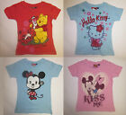 Girls character t shirts minnie mouse/winnie the pooh/hello kitty 3 4 5 6 7 yrs