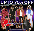 OFFICIAL MENS MICHAEL JACKSON 80s FANCY DRESS COSTUMES 1980's 1970's KING OF POP
