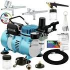 New 3 Airbrush Compressor Kit Dual-Action Spray Air Brush Set Tattoo Nail Art