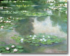 HUGE Monet Water Lilies, 1905 Stretched Canvas Giclee Art Repro Print ALL SIZES