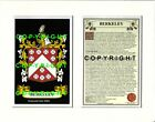 GOLD to GREEN Family Coat of Arms Crest + History - Mount or Framed