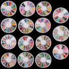 120 PCS Multicolor Fimo Nail Art Nail Tips Slice Decoration Wheel Rotary Type