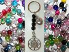 Compass Follow Your Dreams Charm Bead Key Chain MULTIPLE DESIGNS Custom Crafted