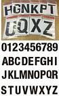 3x Waterproof Vinyl Alphabet Character Number Numeral Letter Sign Sticker 75mm