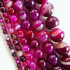 TZX8 Beautiful Pink Onyx Agate Loose Bead 15.5inch