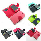 New PU-Leather 3-pocker debit card pouch case cover+color film For iPhone 4 4S 5