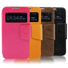 AUTO S View Smart Wake/Sleep Cover Flip Case for Samsung Galaxy S4 i9500 colors
