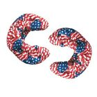 New A&R AMERICAN FLAG Ice Hockey Figure Skate BLADE COVERS Soakers Terry Cloth