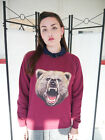 Wildlife Bear Face, Bear Jumper, Bear Sweatshirt, Bear Sweater, Bears,Womens,New