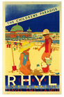 L.M.S RHYL NORTH WALES  Vintage Art Deco Railway/Travel Poster A1,A2,A3,A4 Sizes
