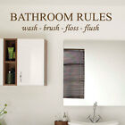 Bathroom Rule Wash Brush Floss Flush Art Wall Stickers Quote  Wall Decals