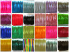 1 mm Satin Rattail Cord 10 yards 25 yds 80 meters metres  kumihimo jewelry m