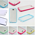 Colored Bumper Matte Clear Hard Case Cover For Samsung Galaxy Note 2 II N7100