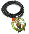 "WOODEN NBA BOSTON CELTICS PENDANT PIECE 36"" CHAIN BEAD NECKLACE GOOD WOOD STYLE on eBay"