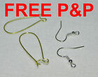 KIDNEY FISH HOOK WIRE EARRING EAR SAFETY EARWIRES SILVER PLATED FINDING SOUTACHE