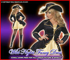 FANCY DRESS COSTUME # GOLD SWASHBUCKLER PIRATE LADY SIZE 8-18