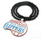 WOODEN LA LOS ANGELES CLIPPERS PENDANT PIECE CHAIN BEAD NECKLACE GOOD WOOD NBA on eBay
