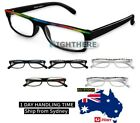 FASHION 3 PAIRS PLASTIC AUSTRALIAN STANDARD READING GLASSES COLORFUL +1.0~3.5