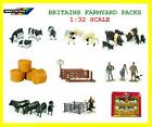 BRITAINS FARM TOYS ANIMALS & ACCESSORIES - 1:32 SCALE MODEL TOY FARMYARD PACKS