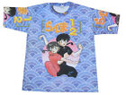 Mens Manga Anime Japanese Cartoon Retro Print Tshirt T-shirt Adult Large & XL