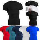 mens compression tight shirts  skin under baselayer  shortsleeve top S~2XL
