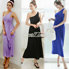 S0BZ Women's Sexy One Shoulder Slim Long Dress Cocktail party New Fashion Hot