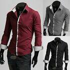 New Mens Luxury Casual Slim Fit Long Sleeves Stylish Dress Shirts M L XL XXL