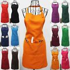Plain Apron with Front Pocket for Chef Butcher Kitchen Cooking Tool Craft Aprons