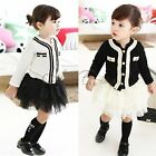 2pcs Girls Baby Outfit Top Coat + Tutu Skirt Dress Kids Autumn Clothes SZ 2T - 6