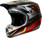 NEW 2014 FOX RACING V4 RACE CARBON FIBER MX HELMET MATTE GREY/ ORANGE ALL SIZES