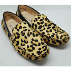 Fulinken EU 38 - 44 MENS Leopard Leather comfort slip on Loafer Driving Shoes