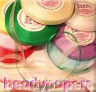15 - 30 yards 14 - 28 m Organza Ribbon 3 mm 1/8 in Sewing Fabric Trim 10 Colours