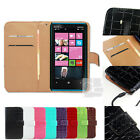 E Crocodile PU Leather Wallet Case Skin Cover Pouch w Card Slots Nokia Lumia 920