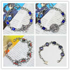Hot Animation Punk Cosplay Metal Clasp Chain Bracelet Black Butler
