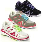 LADIES RUNNING TRAINERS GIRLS SPORTS GYM WALKING SHOCK ABSORBING SHOES SIZE 3-8