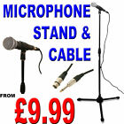 PROFESSIONAL UNI-DIRECTIONAL DYNAMIC MICROPHONE STAND XLR 6.35MM JACK PACKAGE