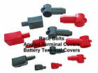 ANGLED TERMINAL COVERS / BATTERY TERMINAL COVERS - RED & BLACK - ASSORTED SIZES