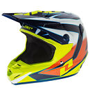 NEW 2014 ONE INDUSTRIES ATOM XWING MX HELMET WHT/ NAVY/ CHARTREUSE ALL SIZES