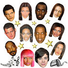Top Celebrity Face Masks for Hen Stag Party Birthday Fancy Dress X'tmas Parties
