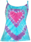 Ladies tie dye strap/string top Blue and Purple Heart  by  sunshine Clothing.