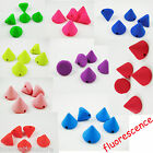 100pcs 9mm CCB Acrylic Spike Cone Studs Beads Fluorescence Color Sew Glue on DIY