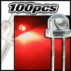 454/100# LED grand angle rouge 100pcs  - straw hat LED 4,8mm  red - rot - rojo