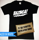 Big Bang Theory Bazinga T-Shirt with It All Started Packaging Sheldon Cooper