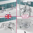 STAFFORD CLASSIC BATHROOM SINK BASIN MONO MIXER, BATH FILLER, SHOWER TAP CHROME