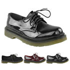 LADIES WOMENS FLAT LOW TOPS LACE UP VINTAGE PUNK RETRO BROGUES SCHOOL SHOES SIZE