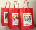Boys Personalised Thank You Birthday Party Gift Bags 21 Designs